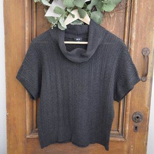 BCX  Cowl Neck Knit Sweater Dark Gray